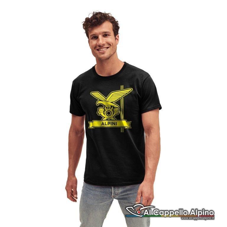 Amt0007 T Shirt Fanteria Alpina Nero