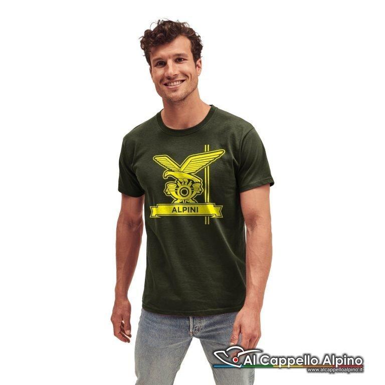 Amt0007 T Shirt Fanteria Alpina Verde Oliva