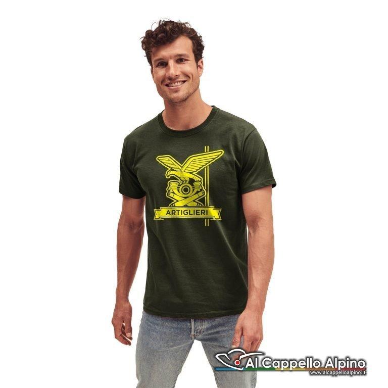 Amt0017 T Shirt Artiglieria Alpina Verde Oliva
