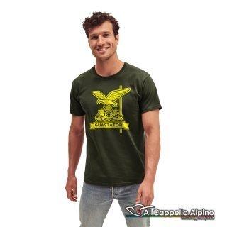 Amt0051 T Shirt Genio Guastatori Verde Oliva
