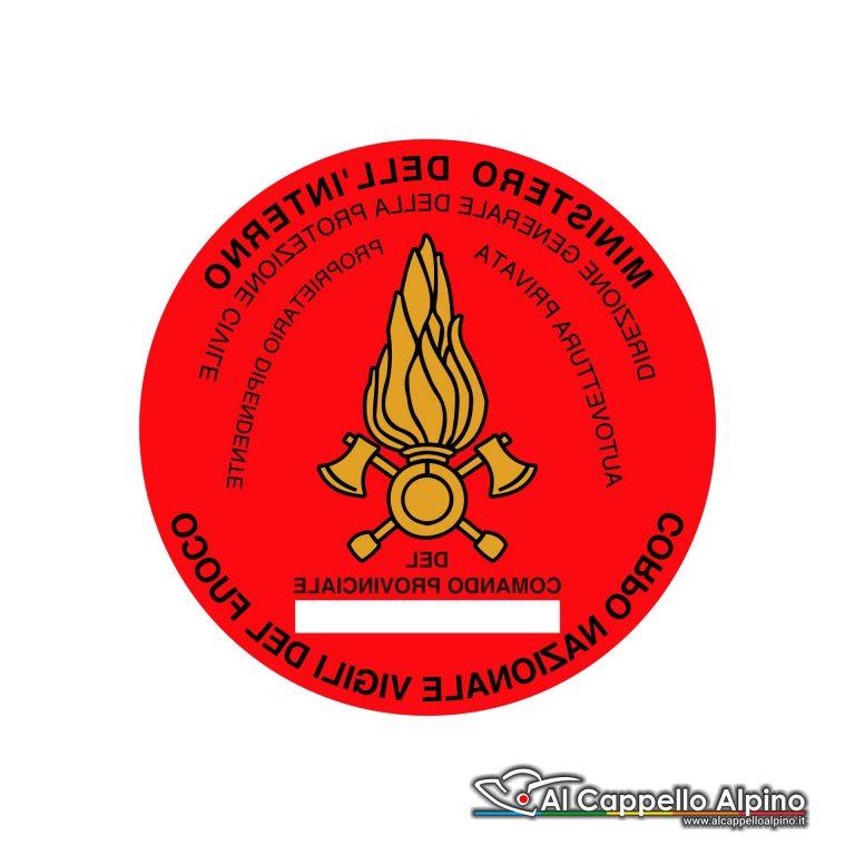 Advf0001 Adesivo Vigili Del Fuoco Interno