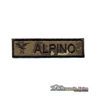Topno0023 Patch Nome Fregio Alpino Vegetato