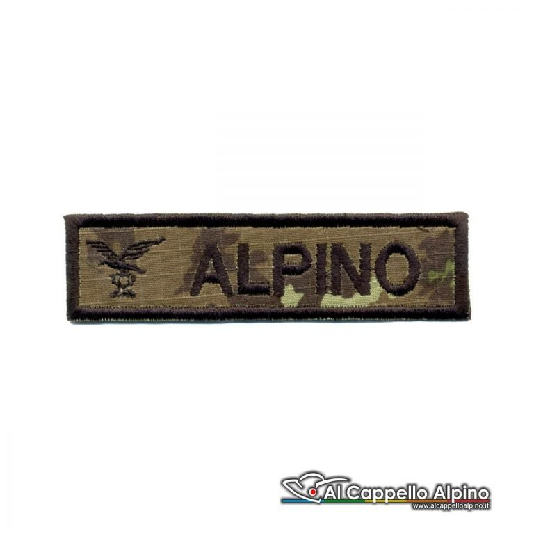 Topno0023 Patch Nome Fregio Alpino Vegetato