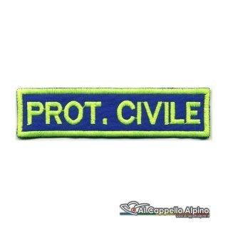 Topno0110 Protezione Civile Fondo Blu Royal