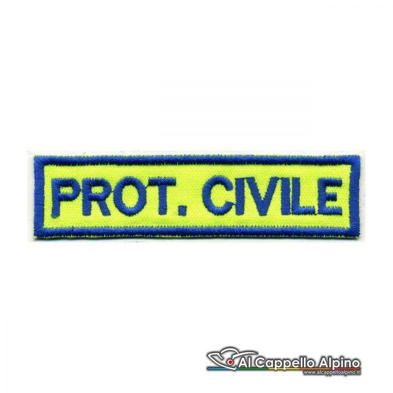 Topno0110 Protezione Civile Scritte Blu Royal