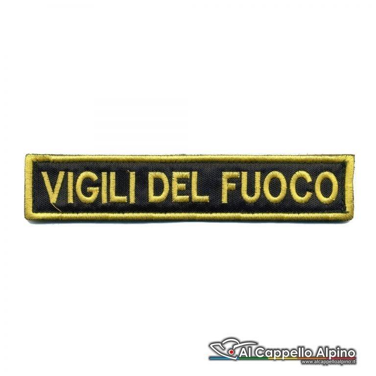 Topno0120 Patch Nome Vigile Del Fuoco Personalizzato