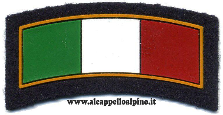 Patch Italia ad arco blu in plastica