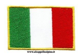 ricamo bandiera italiana 5 x 7,5 cm