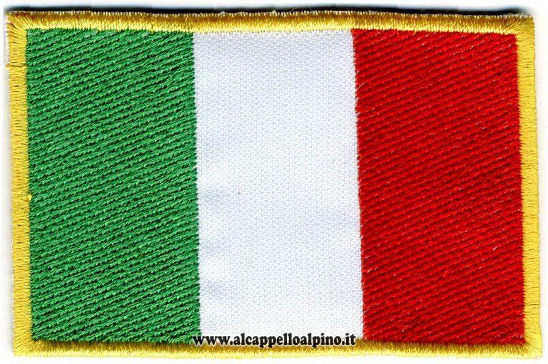 ricamo bandiera italiana 5,5 x 8,3