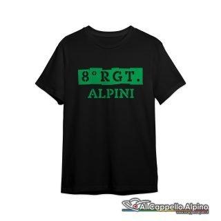 Amt0035 T Shirt 8 Reggimento Alpini Fronte