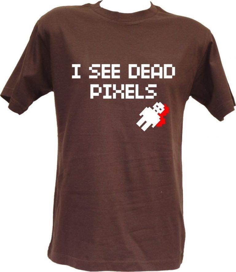 T-shirt I See Dead Pixels cioccolato