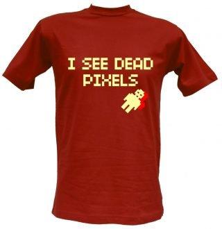 T-shirt I See Dead Pixels mattone
