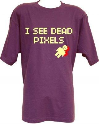 T-shirt I See Dead Pixels viola