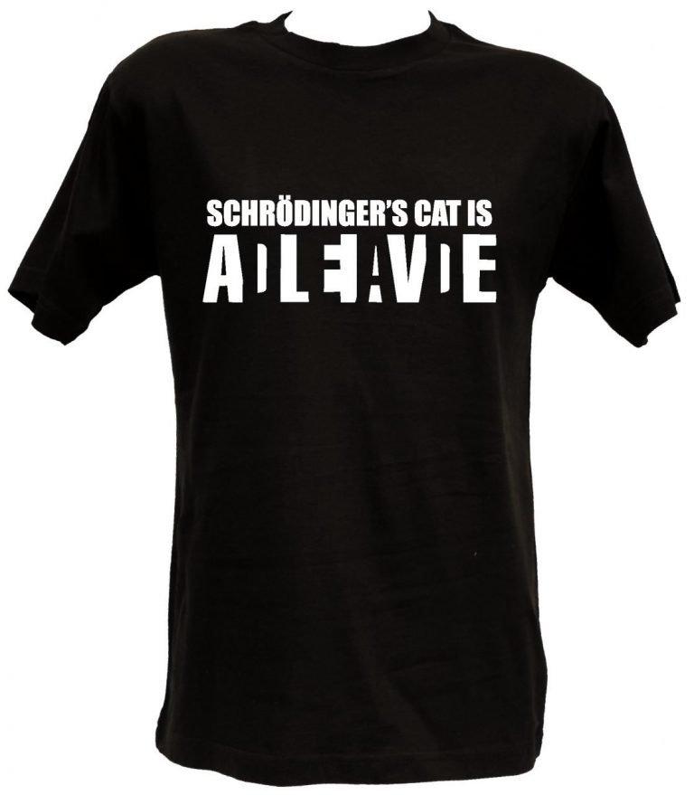 T-shirt Schrodinger's Cat nera