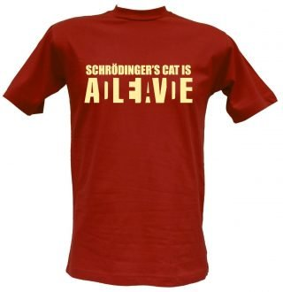 T-shirt Schrodinger's Cat mattone