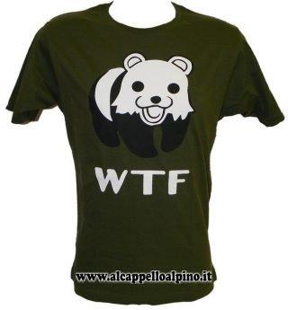 T-shirt Pedobear WTF verde oliva