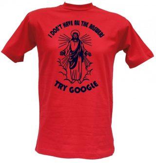 T-shirt Try Google rossa