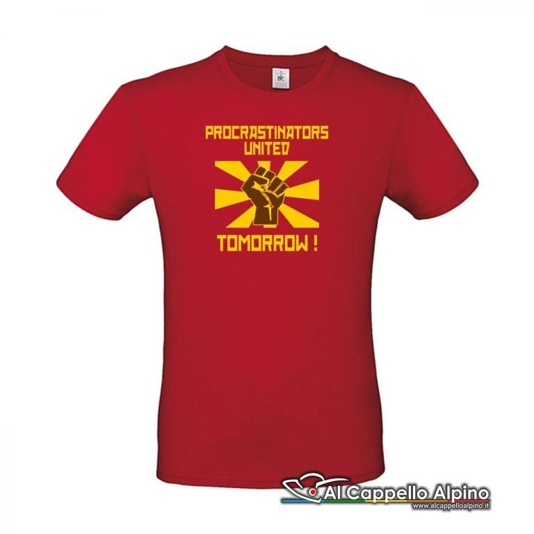 Acts0180 T Shirt Procrastinators United Tomorrow Rosso