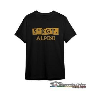 Amt0043 T Shirt 5 Reggimento Alpini Fronte