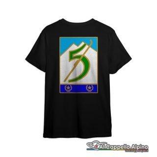 Amt0043 T Shirt 5 Reggimento Alpini Retro