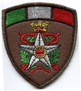 Patch CRI Militare scudo tricolore in panno-0