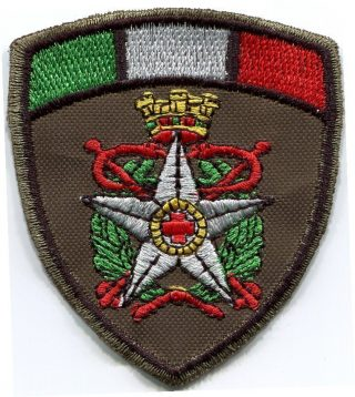 Patch CRI Militare scudo tricolore in cordura-0