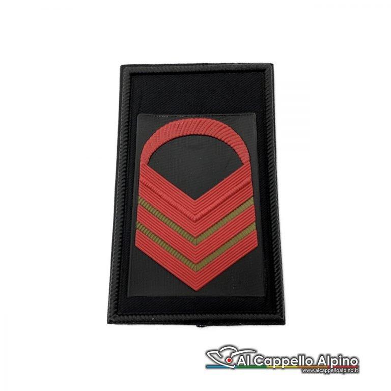 Grado Caporal Maggiore Capo Scelto Esercito Italiano Tubolare Coppia Pvc Nero Alta Visibilita