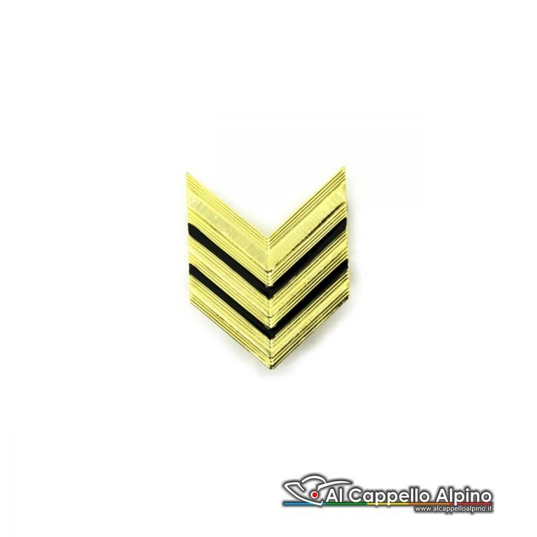 Grado Sergente Maggiore Esercito Italiano Metallico Alta Visibilita