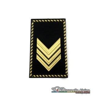 Grado Sergente Maggiore Esercito Italiano Tubolare Coppia Pvc Nero Alta Visibilita