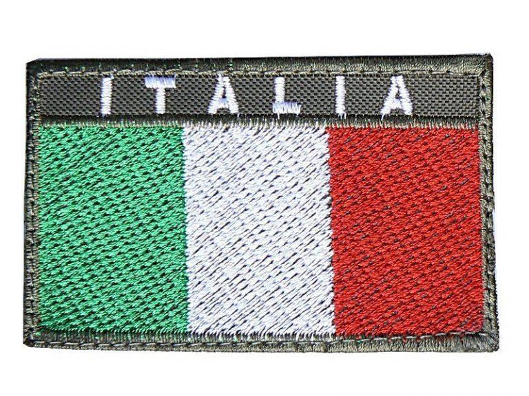Toppa Italia rettangolare bordo OD
