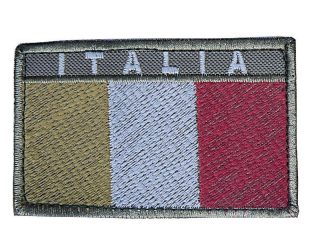 Toppa Italia rettangolare bassa visibilità