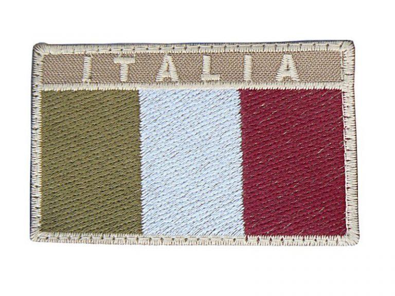Toppa Italia rettangolare bordo tan bassa visibilità