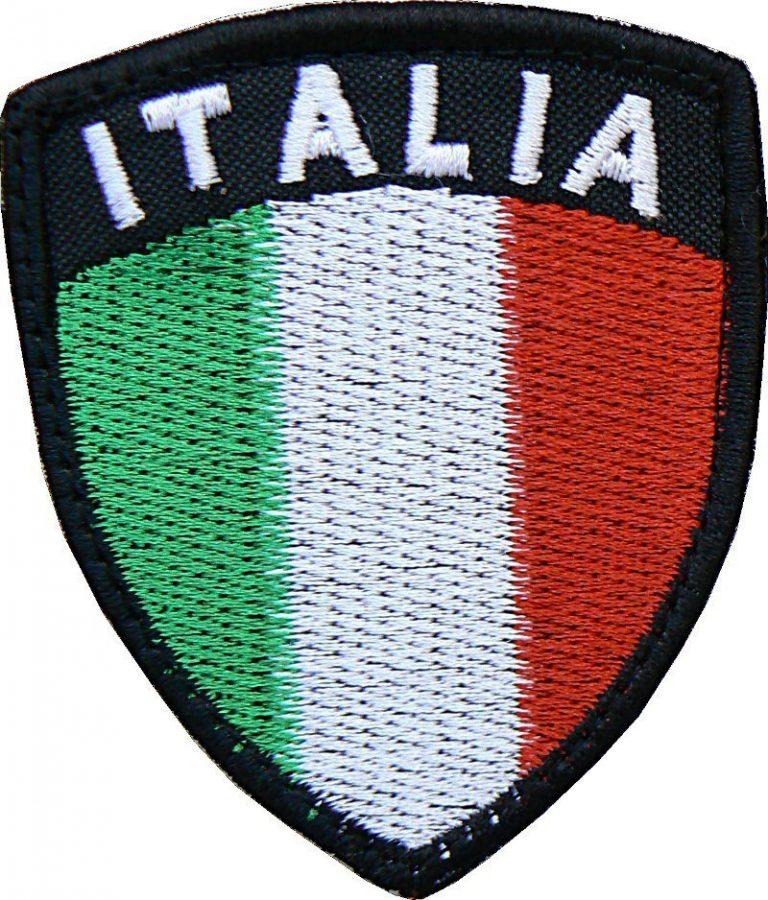 Toppa Italia scudo borso nero