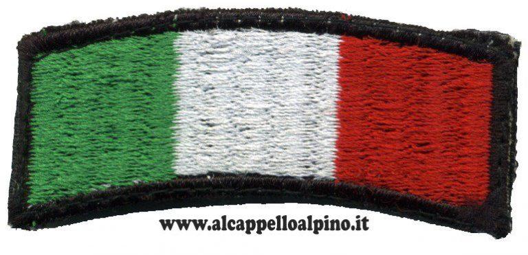 Toppa Italia ad arco bordo nero