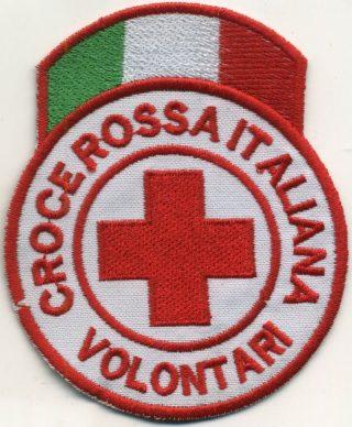 Toppa Croce Rossa - Volontati (con tricolore)