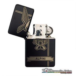 Acacn Pers3755 Alp Accendino Personalizzato Tipo Zippo Alpini Aperto