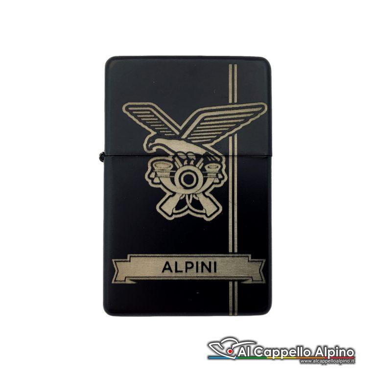Acacn Pers3755 Alp Accendino Personalizzato Tipo Zippo Alpini Chiuso