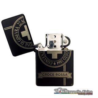 Acacn Pers3755 Cri Accendino Personalizzato Tipo Zippo Croce Rossa Aperto