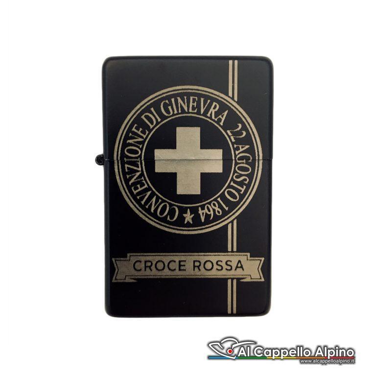 Acacn Pers3755 Cri Accendino Personalizzato Tipo Zippo Croce Rossa Chiuso