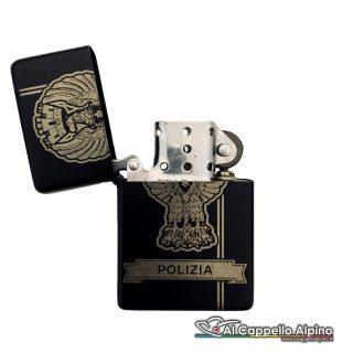 Acacn Pers3755 Pol Accendino Personalizzato Tipo Zippo Polizia Aperto