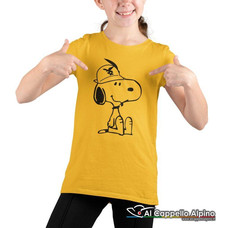 Amt9004 T Shirt Da Bimbo Con Snoopy Alpino Seduto Giallo 02