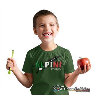 Amt9005 T Shirt Da Bimbo Degli Alpini Con Stampa Tricolore 01
