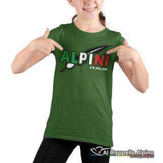 Amt9005 T Shirt Da Bimbo Degli Alpini Con Stampa Tricolore 02