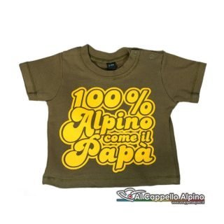 T-Shirt neonato 100% Alpino come...-0