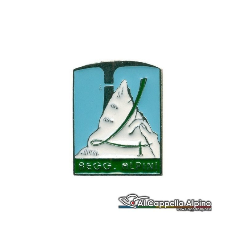 Distintivo Anteguerra 4 rgt Alpini - azzurro-0