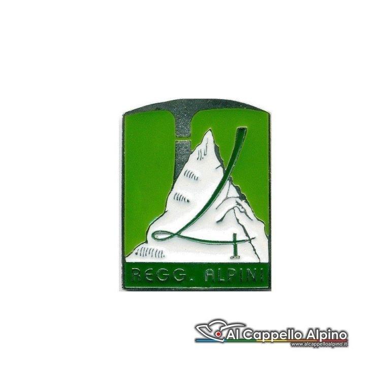 Distintivo Anteguerra 4 rgt Alpini - verde-0