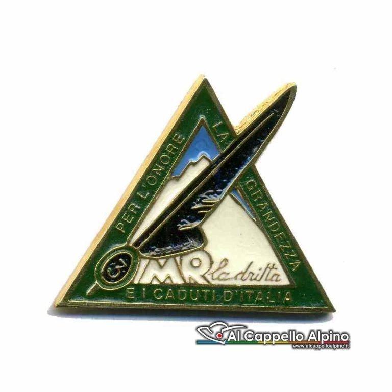 Distintivo Anteguerra 3 btr gruppo art. Aosta (R.S.I.)-0