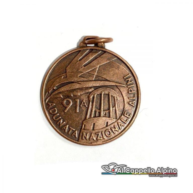 Mead2018 Medaglia Adunata Alpini Trento Retro