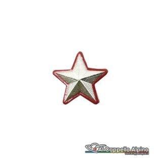 Cc358 Stella Argentata Con Bordo Rosso