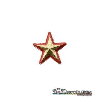 Ei422 Stella Dorata Con Bordo Rosso